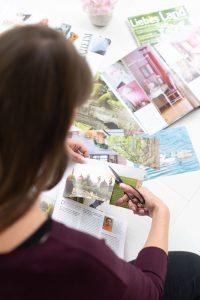 Collage aus Zeitschriften